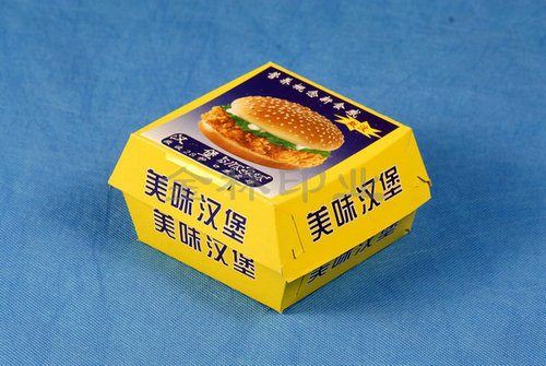 黄色美味汉堡盒